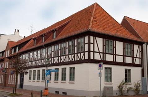 Fassadenrenovierungsarbeiten eines Schiffahrtsarchivs